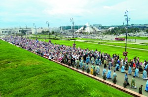Крестный ход с чудотворным образом Богородицы проходит в Казани каждый год 21 июля