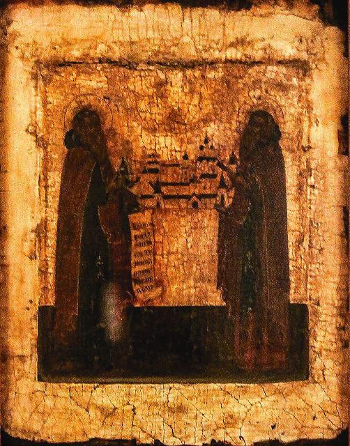 В современном собрании Соловецкого монастыря это один из самых древних образов, который находится в храме святителя Филиппа, на центральном аналое