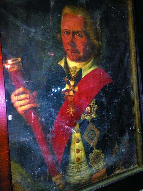 В 1800 году Федор Ушаков в один из своих приездов на Корфу подарил насельникам монастыря Пресвятой Богородицы Высокой свой портрет. Это единственный прижизненный портрет легендарного адмирала. Во время Средиземноморской кампании 1799–1801 годов из-за благоприятного с военной точки зрения расположения монастыря в его кельях размещался русский гарнизон. Как свидетельствует монастырская летопись, у адмирала сложились очень теплые отношения с монахами. Он, в частности, стремился улучшить их быт. На средства адмирала Ушакова в монастыре был устроен подземный резервуар для сбора дождевой воды, которым насельники пользуются и по сей день