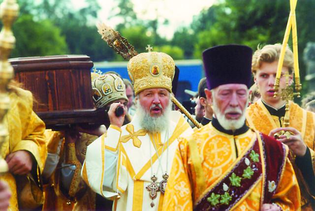 Митрополит Смоленский Кирилл (ныне Патриарх) на торжествах в Санаксарах