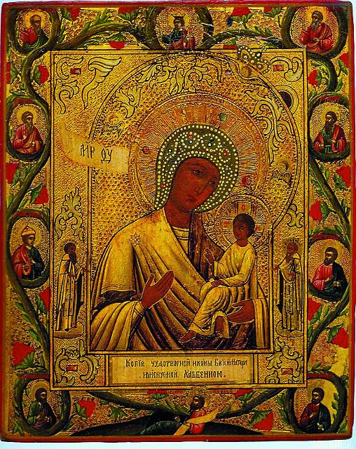 Чудотворная Тихвинская икона Божией Матери, называемая в монастыре «Хлебенная» или «Запечная»