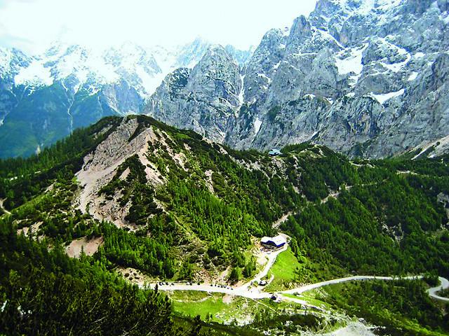 Высокогорный перевал Вршич
