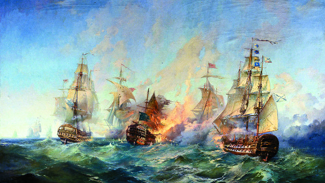 Сражение у острова  Тендра 28-29  августа 1790 года. А. Блинков