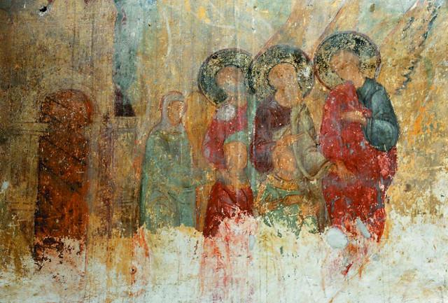 ФРЫ ФРЕСОК XVII века в верхнем (Преображенском) храме