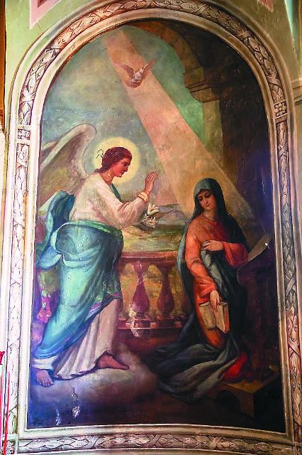 Роспись алтарной части  Благовещенского придела Елоховского храма