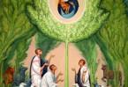 Явление Жировецкой  иконы. Фреска Антона Дайнеко