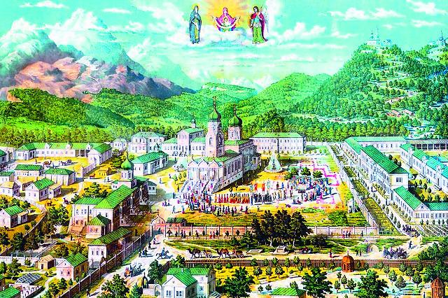 Так выглядел монастырь в начале XX века