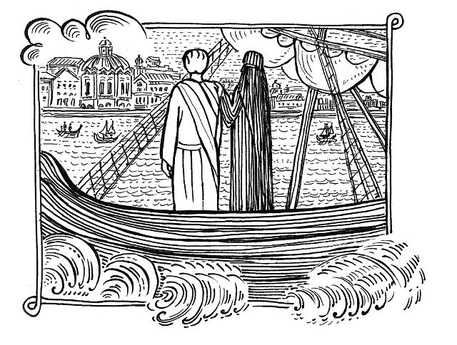 Наняли корабль, и, простившись с монахами, Афанасий и старец Григорий Афанасий отплыли в Константинополь