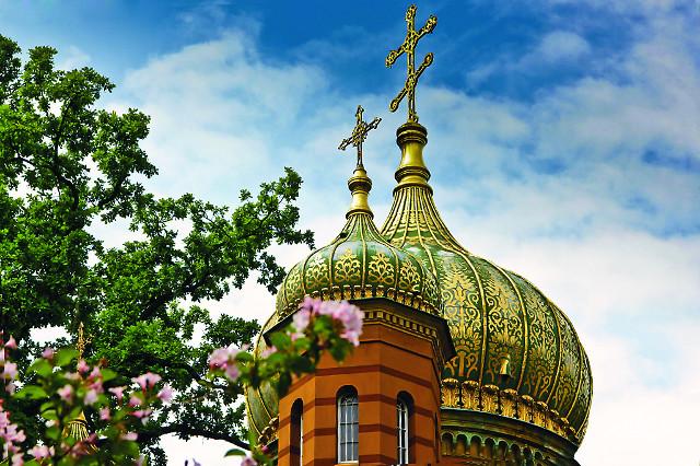 Купола русского храма  в Веймаре