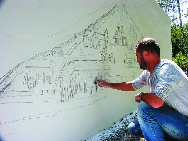 Художник-паломник изображает обитель до революции