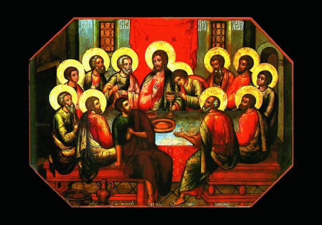 """""""Тайная Вечеря"""" (из Успенского собора Троице-Сергиевой лавры). 1685 г."""