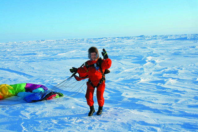 Петр Задиров на Северном Полюсе