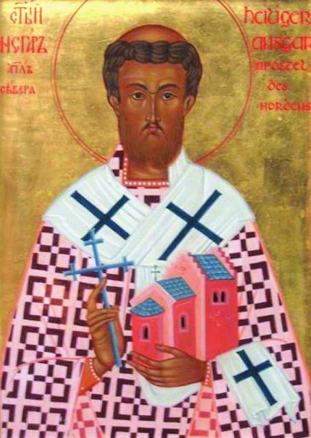 Святитель Ансгар, епископ Гамбургский - небесный покровитель храма