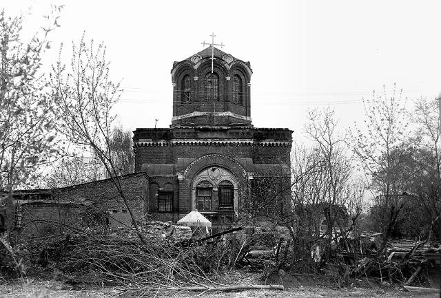 Так выглядел храм в 1992 году