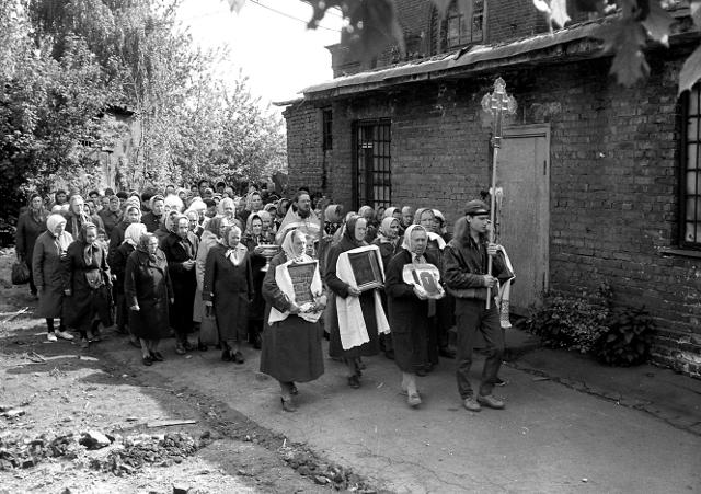 Крестный ход на престольный праздник святителя и чудотворца Николая. 22 мая 1992 года