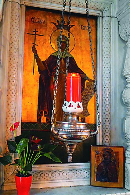Храмовая икона святой Варвары