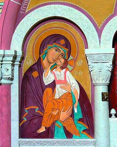Фрагмент фрескового иконостаса