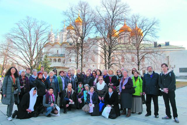 Во время паломнической поездки в Москву
