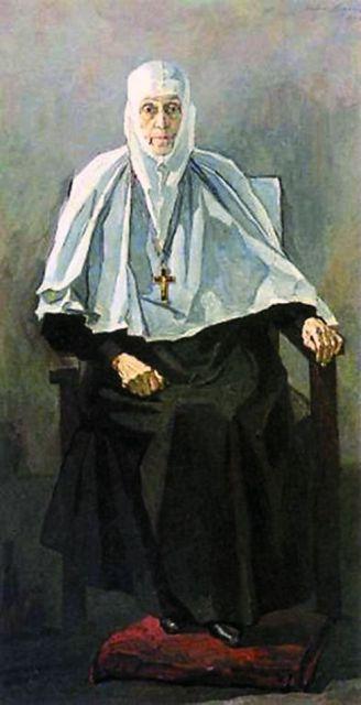 Известный портрет «Схиигумения Фамарь» художник Павел Корин закончил за несколько дней до кончины матушки