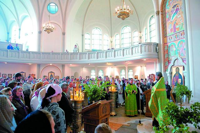 Праздничное богослужение в день святой Троицы
