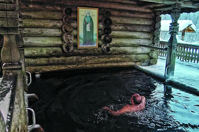 Святой источник «Гремячий ключ». Купальня