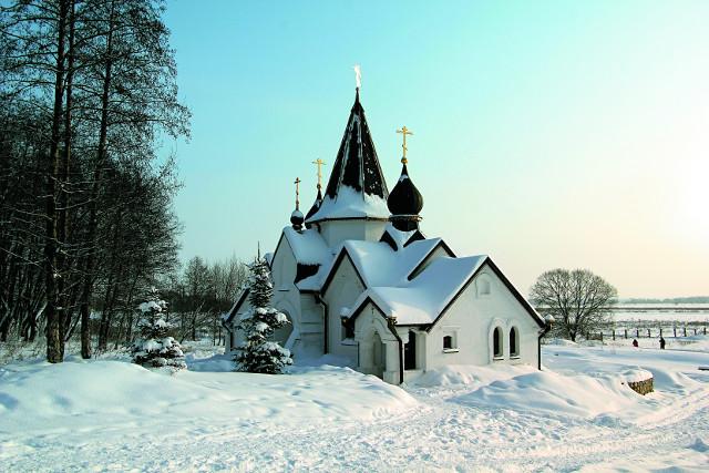 Рядом с монастырем  расположен источник святого апостола Иоанна Богослова. На фото - купальня