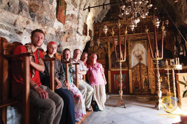 В монастыре Панагии Хозовиотиссы, основанном в 1088 году византийским императором Алексеем I Комнином. Храм находится на высоте 300 м. Остров Аморгос.