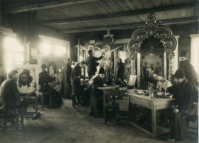 Иконописная мастерская, Белогорский Свято-Николаевский монастырь, начало XXв