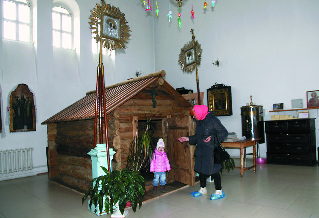 Воссозданная келья святого Макария в Клобуковом  монастыре
