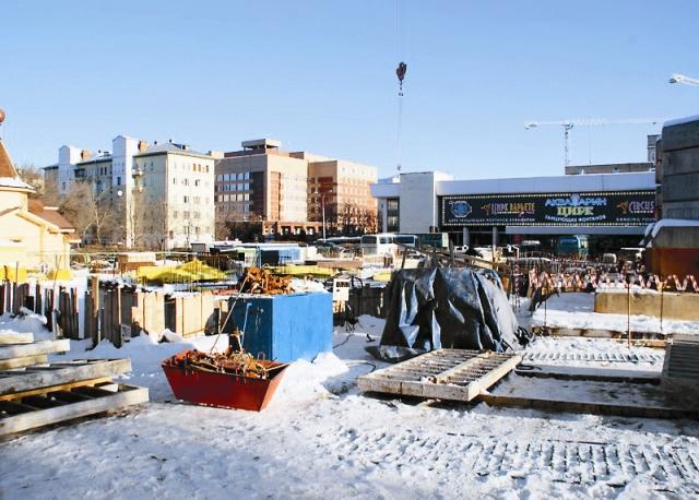 Начало строительства, ноябрь 2011 года