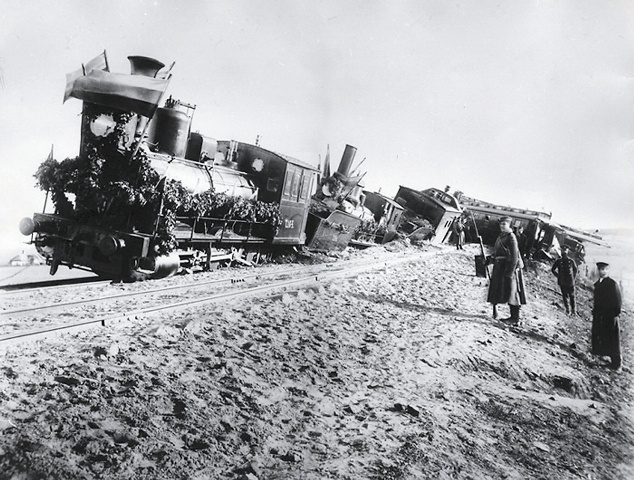 Крушение поезда 17 октября 1888 года, в котором царь Александр III с женой и детьми возвращались после отдыха в Крыму