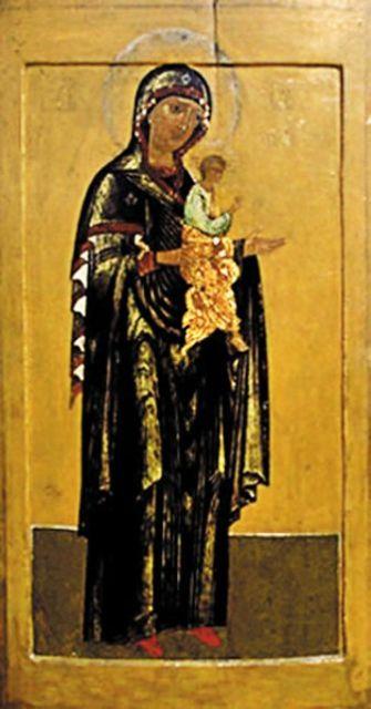 В фондах Музея древнерусского искусства им. Андрея Рублева была обнаружена чудотворная Моденская икона Божией Матери, изъятая при закрытии храмов