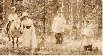 Александр III с сыном Михаилом в гостях в Ильинском, в имении своего младшего брата, великого князя Сергея Александровича