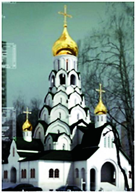 Годуновский классицизм. Храм в честь Новомучеников и Исповедников Российских (Строгинский бульвар, вл. 14)