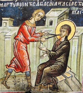Анастасия перенесла все мучения с именем Господа на устах