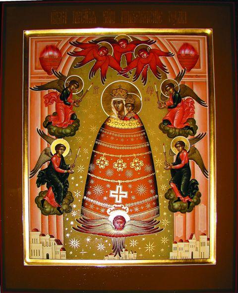 В церкви Покрова Божией Матери старинного города Тутаева Ярославской области находится самая древняя из известных икон Божией Матери «Прибавление ума»