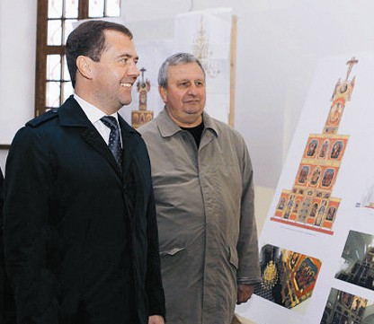 Посещение монастыря Дмитрием Медведевым