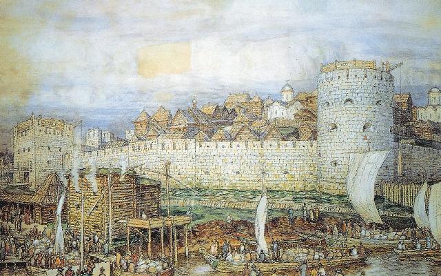 Огнем и мечом прошел литовский князь Ольгерд по Русской земле, и только каменный Кремль укрыл москвичей от врага