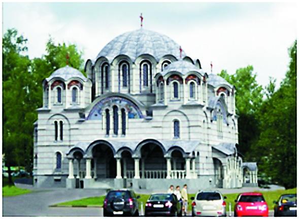 Византийская купольная базилика. Храм в честь иконы Божией Матери «Воспитание» (ул. 1-я Вольская, вл. 2)
