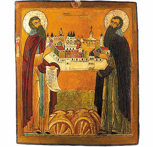 Преподобные Зосима и Савватий Соловецкие, конец XVII - начало XVIIIвека