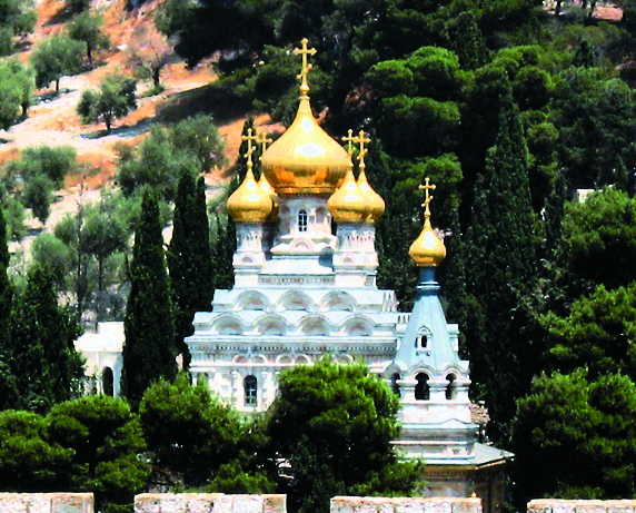 Храм Марии Магдалины вИерусалиме. Здесь Макарские крестили дочь Марию