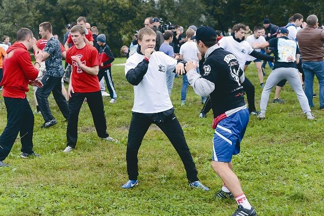 На спортивном празднике в Коломенском