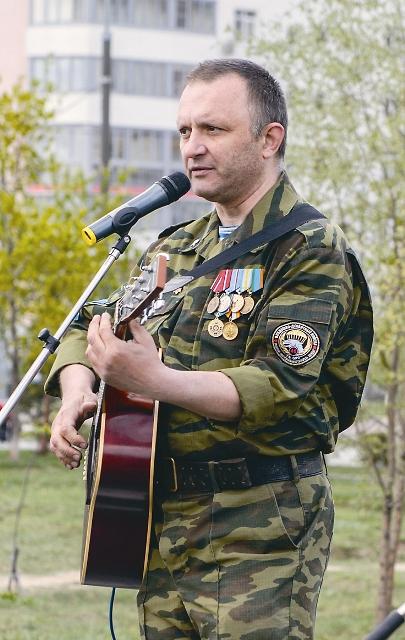 Выступление ветеранов ВДВ