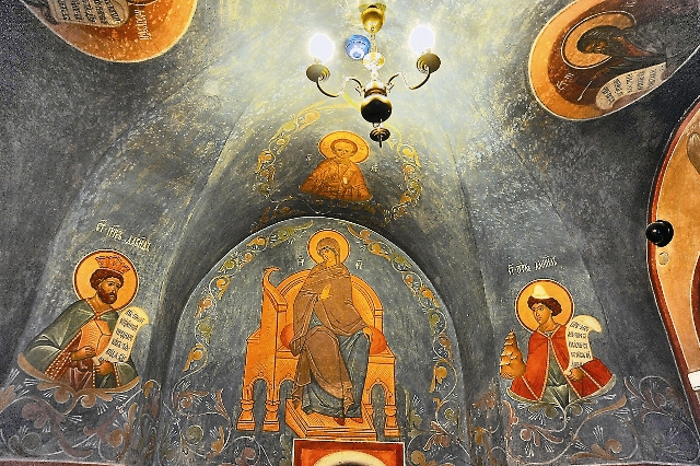 Росписи в храме  вятителя Николая в Кленниках