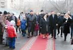Глава Северного административного округа В.В. Базанчук встречает великую княгиню Марию Владимировну