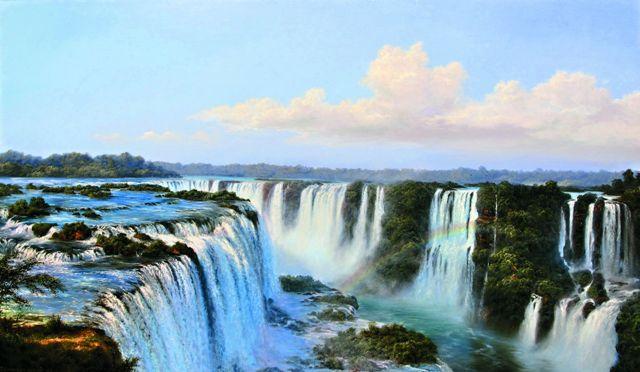 «Водопад Игуасу», картина художника Геннадия Лысака, 2012 год
