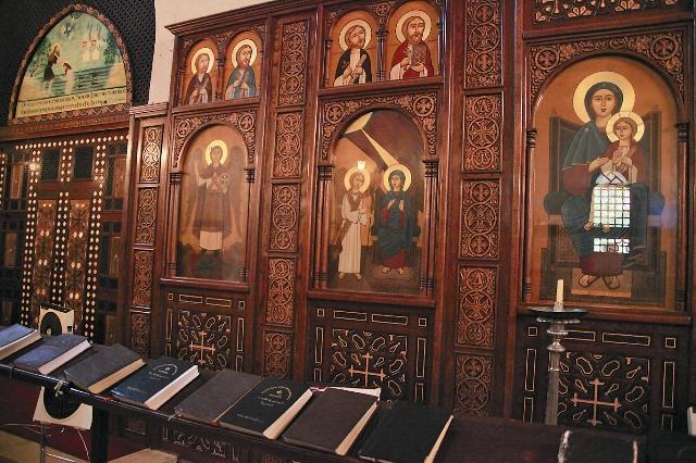 Интерьер монастыря Абу-Макар