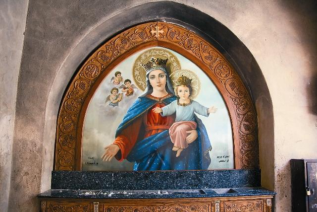 Икона Богородицы в мона- стыре Дейр-Cуриани