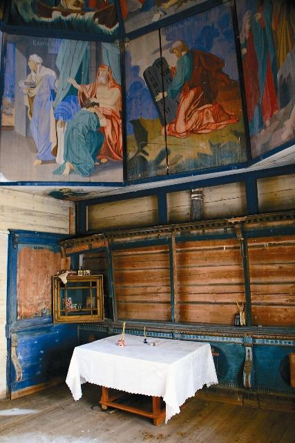 «Небеса» в деревянной архитектуре Русского Севера – своеобразный расписной потолок.