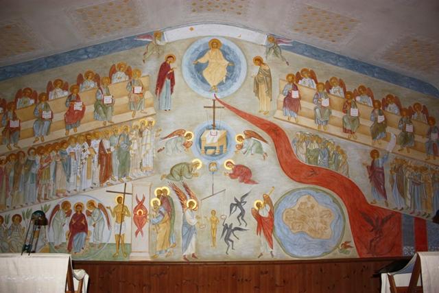 Когда роспись была закончена, местные власти пришли посмотреть… и отметили храм особой наградой «За лучший дизайн 1989 года в графстве Эссекс»